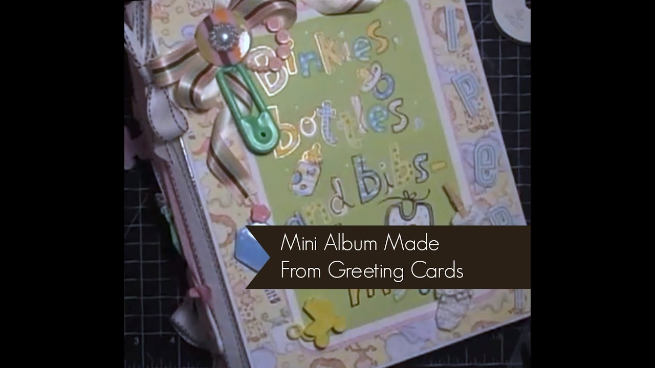 Gift bag greeting card mini album part 1 of 5 youtube m4hsunfo