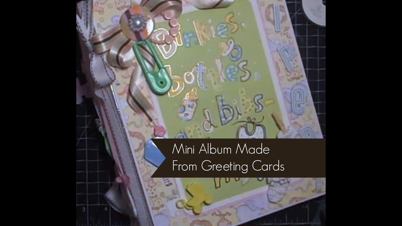 Gift Bag / Greeting Card Mini Album Part 1 Of 5