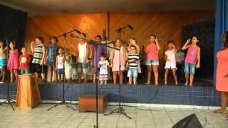 Crianças da Primeira Igreja Evangélica e congregacional de NIterói