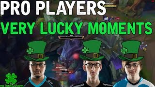Repeat youtube video Pro Players VERY LUCKY MOMENTS! (League of Legends)