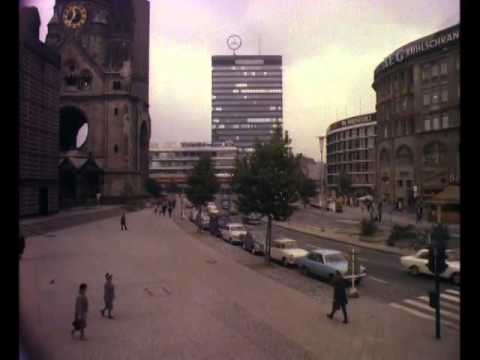 Late 1960s/ Early 1970s Berlin Buildings and Cars, Colour Archive Footage