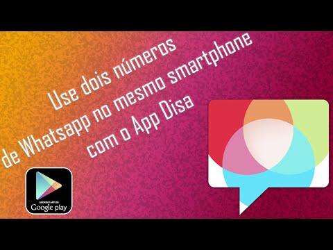 USE DOIS WHATSAPP NO MESMO SMARTPHONE COM APP DISA