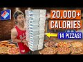 I Tried To Eat EVERY PIZZA On The Dominos Menu!