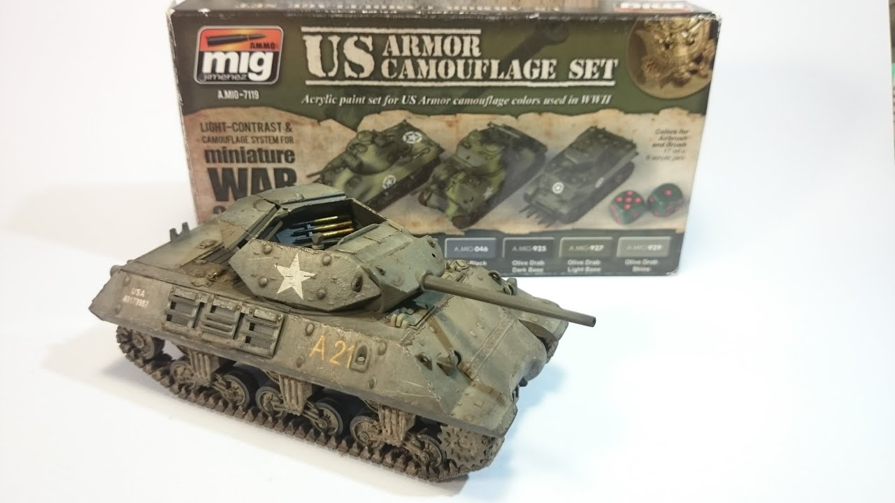 Painting a M10 Wolverine from Rubicon Models