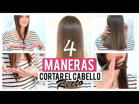 Cómo cortar el cabello recto   4 opciones