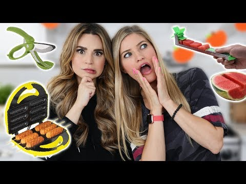 TESTING 7 MORE FUN KITCHEN GADGETS W/ IJustine! Part 5