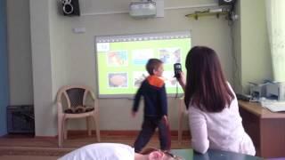 Открытый урок, детский сад Олимп.