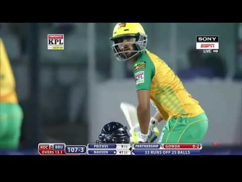 An Amazing 52 By Naveen M G Against Rock Stars.