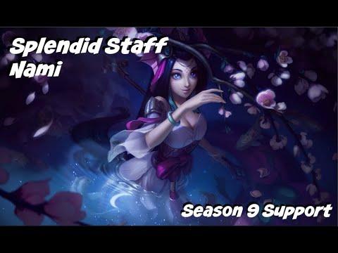 League of Legends: Splendid Staff Nami Support Gameplay