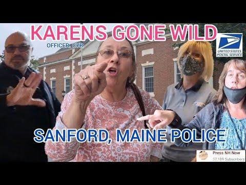 *KARENS GONE WILD* AT POST OFFICE 📬 SANFORD, MAINE POLICE GET DISMISSED