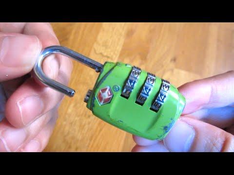 How to Reset TSA Lock Combo Tutorial - YouTube