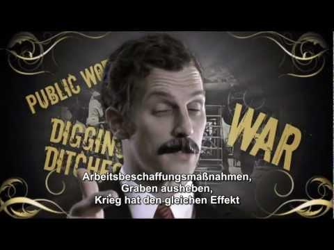 Keynes vs. Hayek - Fear the Boom and Bust - Round 1 - deutsch Untertitel / german subtitles