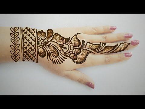 Beautiful Latest Simple Easy Gulf Henna Mehndi Designs