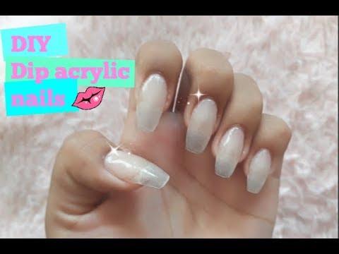 Diy Dip Acrylic Powder Nails Updated Youtube Powder Nails Diy Acrylic Nails Acrylic Nail Kit