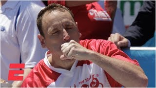 Joey Chestnut eats 71 hot dogs to win Nathan's Hot Dog Eating Contest for 12th time | ESPN