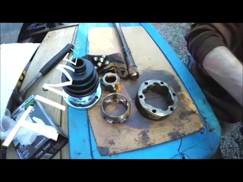CV Axle Boots and Grease Rebuild Time lapse || Porsche 944 Turbo 911 964 Carrera