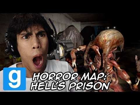 Peenoise Play GMOD Horror Maps - Hell's Prison ft. GLOCO and friends