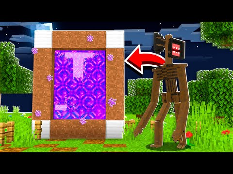 Minecraft PORTAL To The SIREN HEAD Dimension At 3:00 AM..