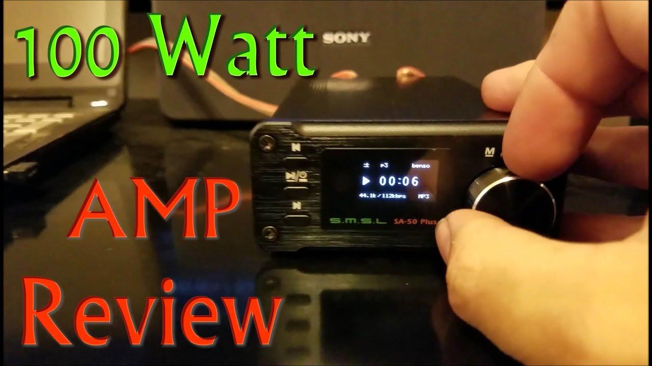(:Review:) SMSL 50Watt Stereo Amplifier ~SA-50Plus~ Ultra Compact HiFi Amp  w/MP3 Playback
