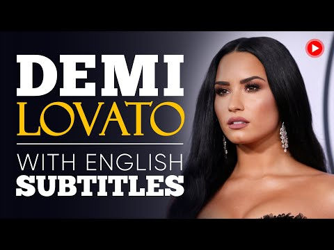 ENGLISH SPEECH | DEMI LOVATO: Mental Health (English Subtitles)