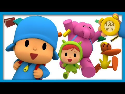 🎒 POCOYO AND NINA - Back to School [ 133 minutes ] | ANIMATED CARTOON for Children | FULL episodes