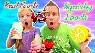 GIANT SQUISHIES vs REAL FOOD CHALLENGE!!! The Best Squishy Toys!!!