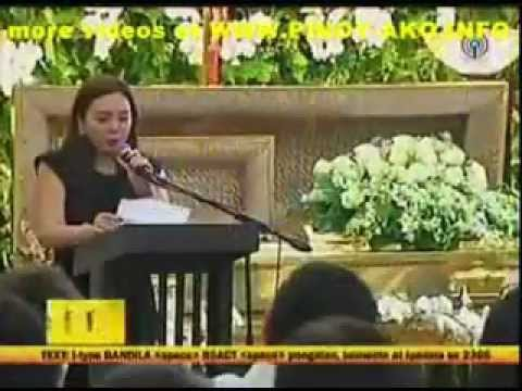 Eulogy : Ms. Claudine Barretto