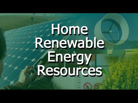 Home Renewable Energy Resources