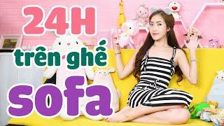 Thử Thách Sinh Tồn 24h Trên Ghế Sofa, Tấu Hài Cực Mạnh ! | Meena Channel