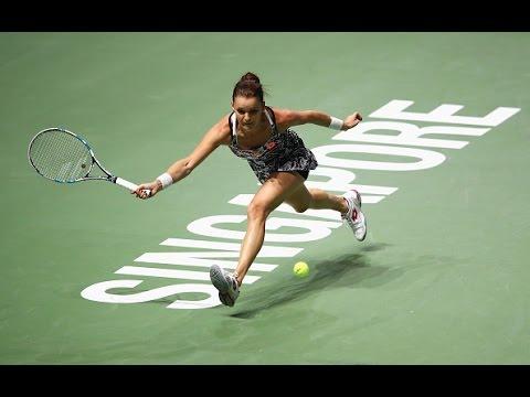 Agnieszka Radwanska vs Garbiñe Muguruza | 2016 WTA Finals Singapore Highlights