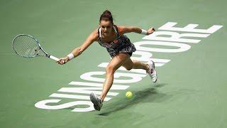 Agnieszka Radwanska vs Garbine Muguruza | 2016 WTA Finals Singapore Highlights