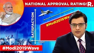 CVoter Survey Shows A Surge In PM Modi's Popularity   The Debate With Arnab Goswami