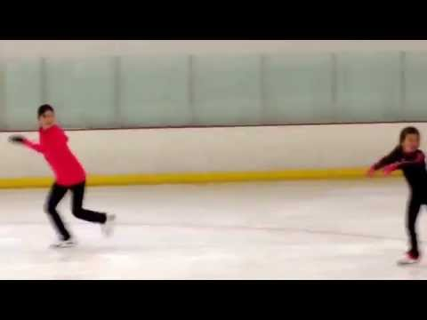 Kristi Yamaguchi and her daughter Emma skating to Frozen