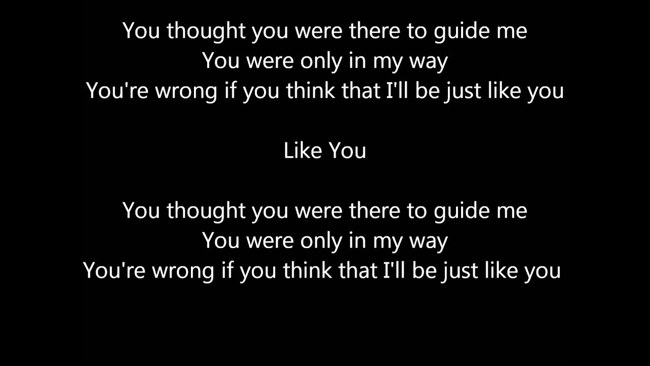 Three Days Grace lyrics! - just like you - Wattpad