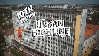 Big highlines at the skyscrapers – Urban Highline Festival 2018