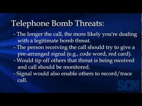 Procedures For Handling A Telephone Bomb Threat
