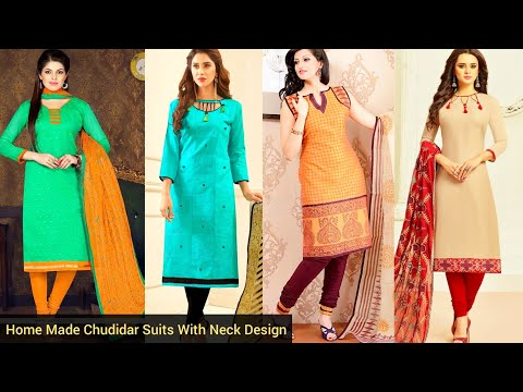 Stylish Home Made Indian Churidar Suit With NECK DESIGN Ideas| Best Casual Summer Cotton Kurtis 2020