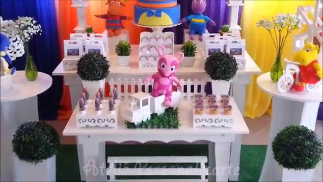 Decoracao Yotube ~ Decoraç u00e3o de festa infantil Backyardigans YouTube