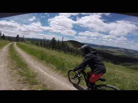 Discovery Bike Park - Philipsburg Montana - S line to War Pig to Roller Girl - Summer 2017 -