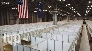 From convention hall to field hospital: New York's Javits Center transformed by coronavirus