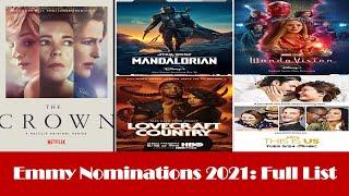 Emmy Nominations 2021: Full List (73rd Emmy Awards Nominations)