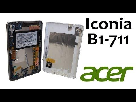Как разобрать планшет Acer Iconia B1-711