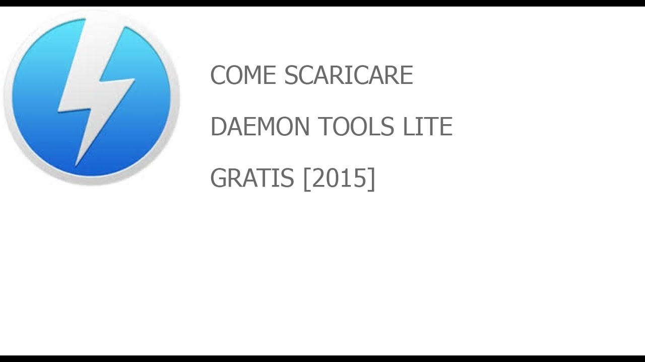 come scaricare daemon tools lite 2015 youtube. Black Bedroom Furniture Sets. Home Design Ideas