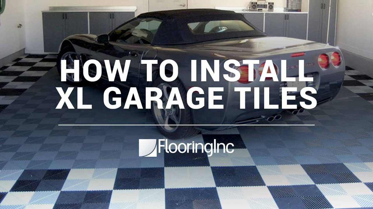 Ribtrax tiles premium interlocking garage tiles