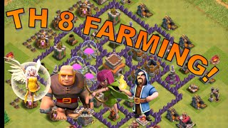EASY TH 8 FARMING STRATEGY :: CLASH OF CLANS :: GIANTS, ARCHERS, WIZARDS