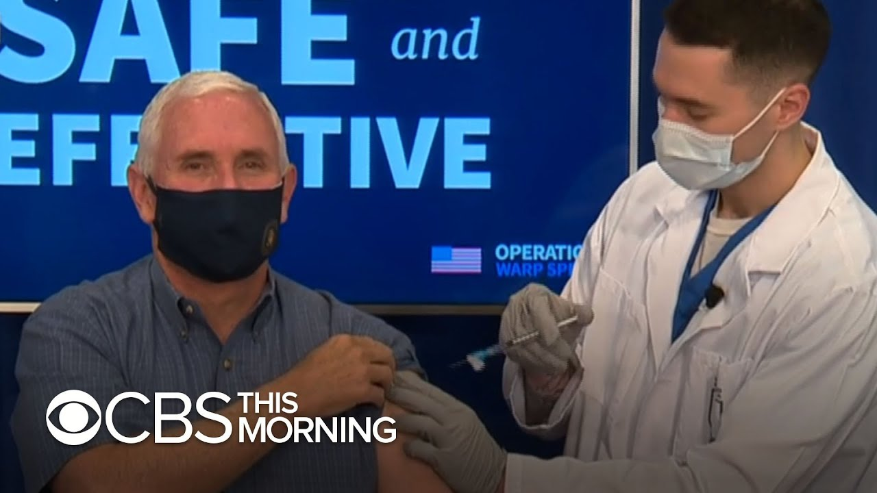 Vice President Pence, second lady get COVID-19 vaccine on live TV