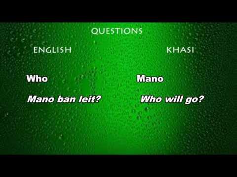 LEARN KHASI - QUESTIONS