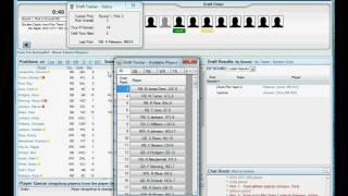 Fantasy Draft Assistant - Draft Tracker Demo