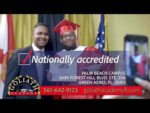 Earn your High School Diploma NOW at Goliath Academy!