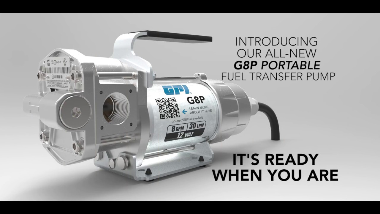 G8P Portable Fuel Transfer Pump - GPI
